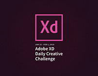 Adobe XD Daily Creative Challenge Jan/Feb 2019