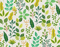 Greenery Leaves / Textile Design