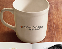 Logo Design for Orange Vespa Rentals