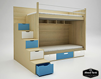 Children's Double Bed with Storage