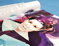 "Portrait - illustration for ""Twój Styl"" magazine"