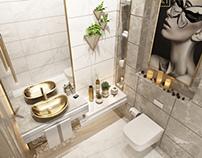 Guest bathroom design in kuwait