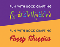 Fun with Rock Crafting - Fuzzy Wuzzies and Sparkle Wa