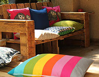 Sofa and bench from pallets.