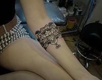 Fhobik tattoo - tibetan flower
