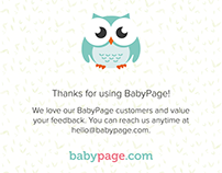 BabyPage - Thank You Cards
