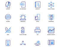 VoIP Phone Service Icons Pack