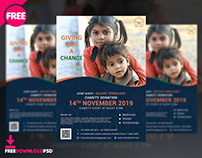 Charity Donation Flyer Free PSD
