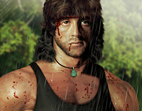 RAMBO - Sylvester Stallone - Digital Illustration