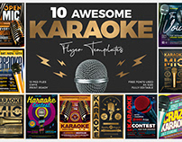 10 Karaoke Flyer Bundle
