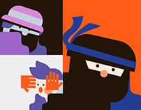 New Orange Illustration Pack Designed by Artify