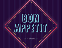 Bon Appetit: 2019 Calendar