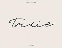 Trixie script   Free font