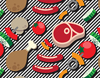 KOOLBBQ | pattern illustration