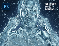 Ice Frost Effect Photoshop Actions