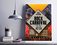 Rock Carnival Poster A4 Size