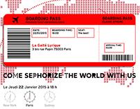 Invitation événement Sephora