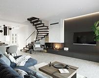 "Interior design ""Townhouse Rivnenska"""