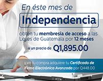 Campaña Mes Patrio (mailing y medios digitales)