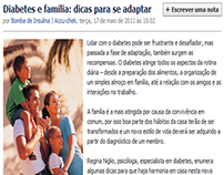 Facebook: Diabetes e família: dicas para se adaptar