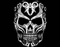 Devil Head illustration for T-Shirt Printing