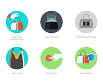 Icons for smart handbag brand - Icon Project 6