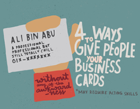 4 Ways To Give People Your Business Cards