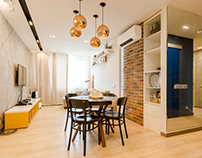 Apartment for a young couple from the Bureau Zi-design.