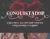 Conquistador Flourished Serif Font