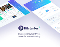Bitstarter – cryptocurrency WordPresss theme.
