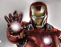 My Ironman fanart - painted in Adobe Ps CC