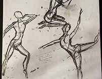 Various College Figure Drawings off of live models