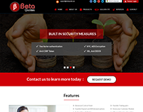 Landing page Design for currency exchange software
