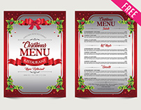 Free Christmas Menu PSD Template