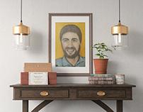 Цветной портрет (акварельные карандаши, цветные ручки)