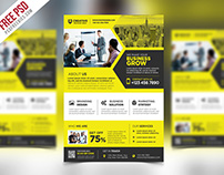 Free PSD : Corporate Business Promotional Flyer PSD