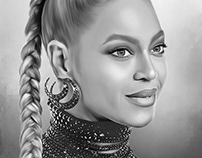 Beyoncé Digital Oil Painting