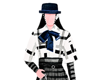 Fashion illustration paper dolls