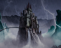 Castle Night Storm