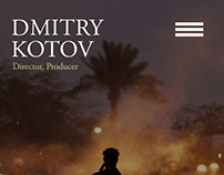 Phone version of a portfolio website