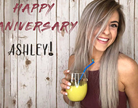 Happy Aniversary board for Ashley