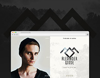 My personal site (Design concept)