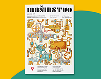 Redesign of my redesigned cover for magazine Mašinstvo