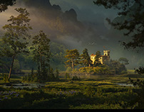 Pine castle - matte painting + MAKING OF
