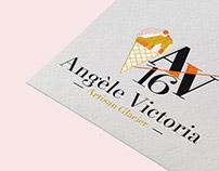 Logo glace artisanale, graphiste, île saint-Martin