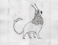 Criatura - gravura