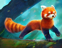 Red Panda Character Design