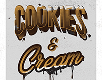 Cookies & Cream Typography