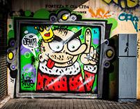 "Serie fotográfica ""Arte Urbano en calles de Santiago"""