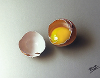 Drawing a realistic broken egg